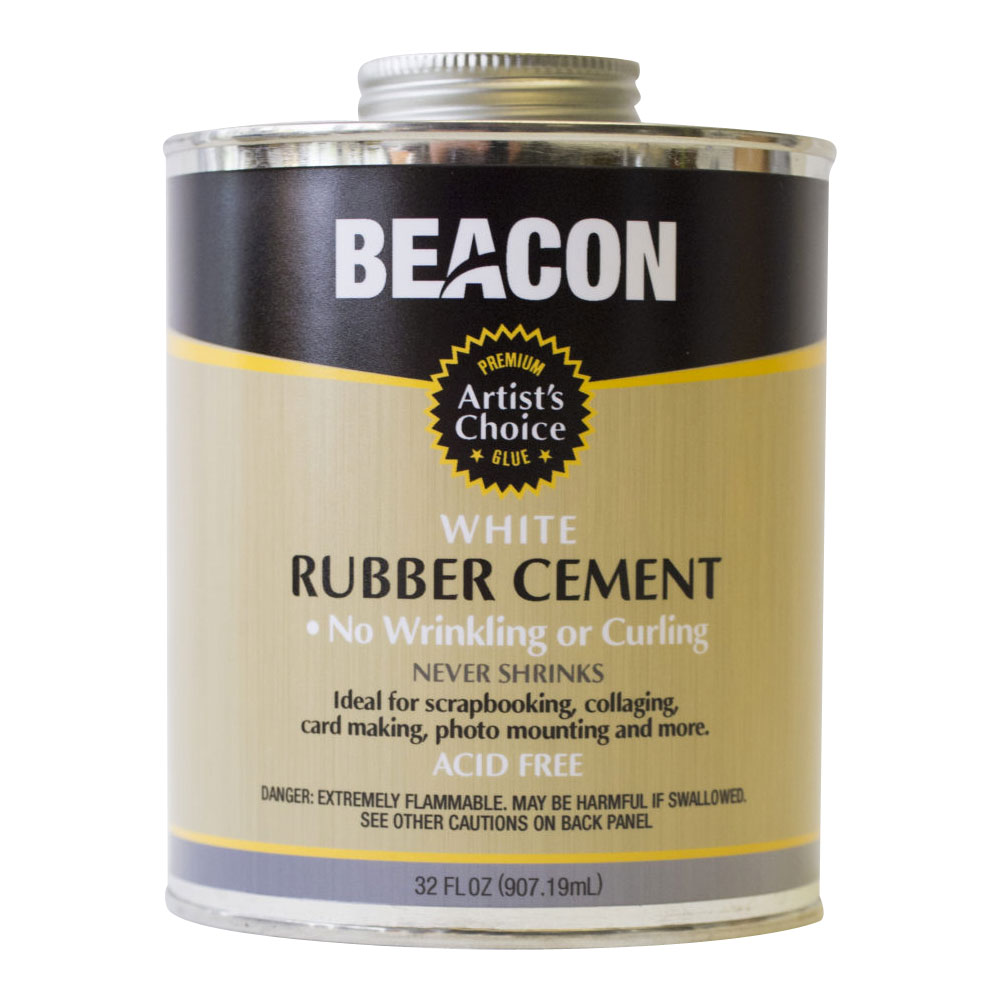 Artist S Choice White Rubber Cement Beacon Adhesive